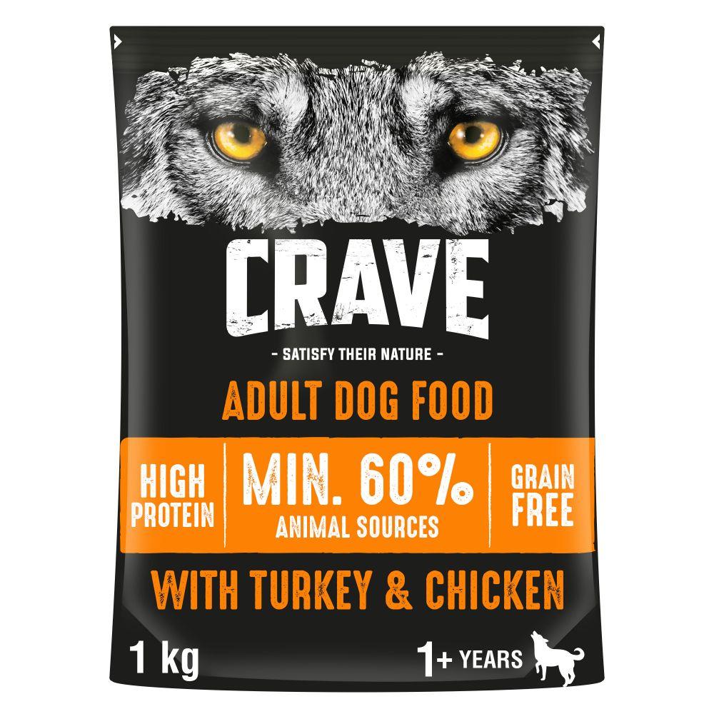 Crave Adult Turkey & Chicken Dry Dog Food - 2.8kg