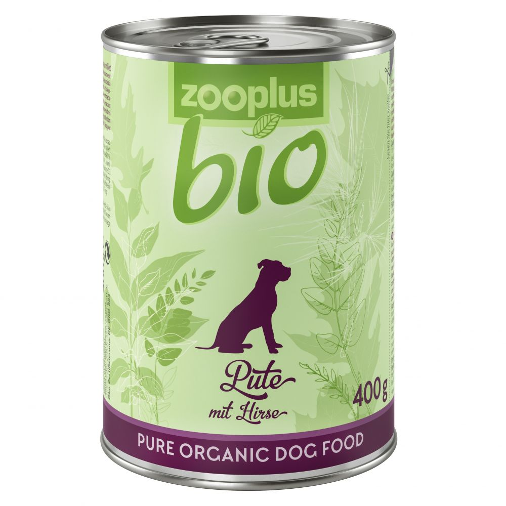 INOpets.com Anything for Pets Parents & Their Pets zooplus Bio – Organic Turkey with Millet - 6 x 800g