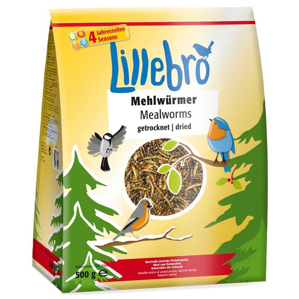1kg Lillebro Dried Mealworms - 20% Off!* - 1kg (2 x 500g)