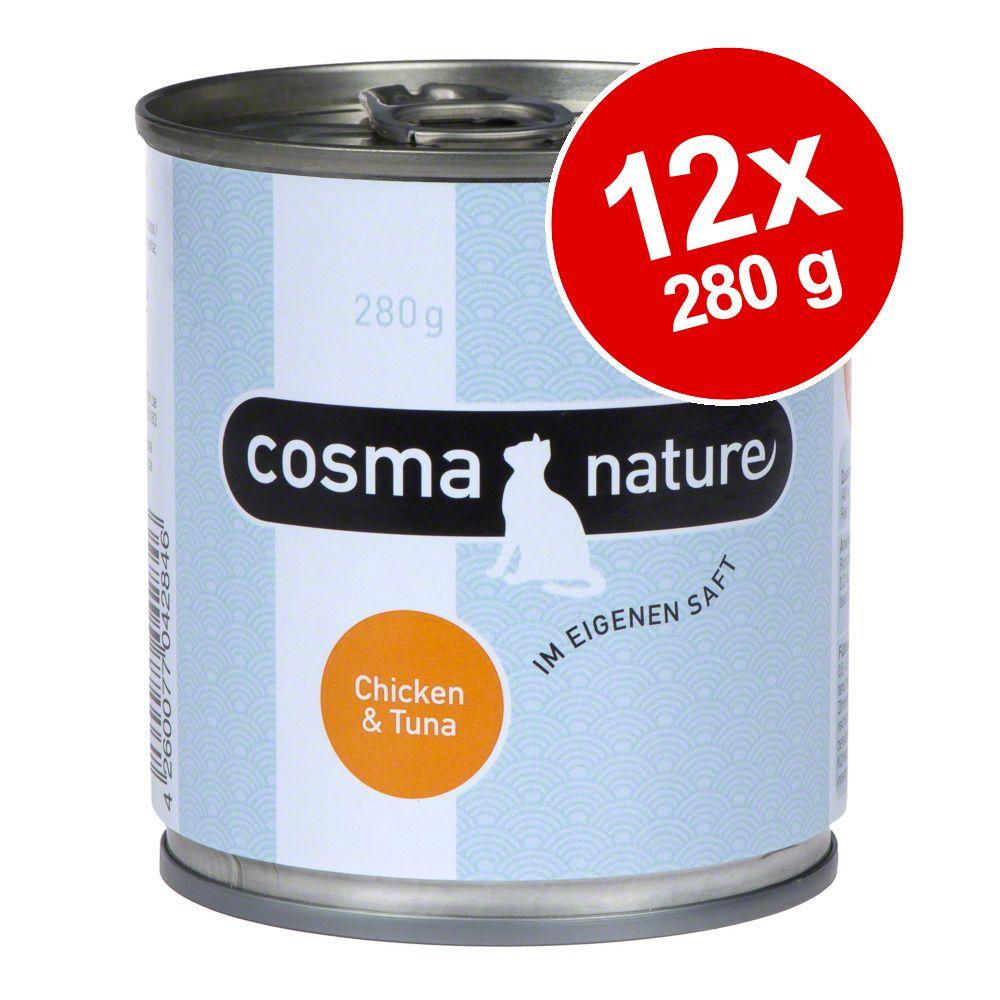 Ekonomipack: Cosma Nature 12 x 280 g - Kycklingfilé