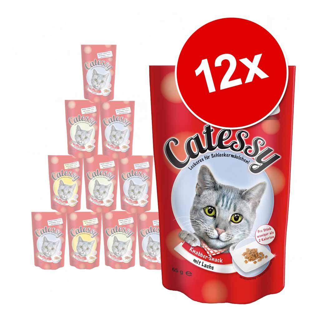 Mieszany pakiet Catessy Chrupiący przysmak, 12 x 65 g - 3 różne smaki