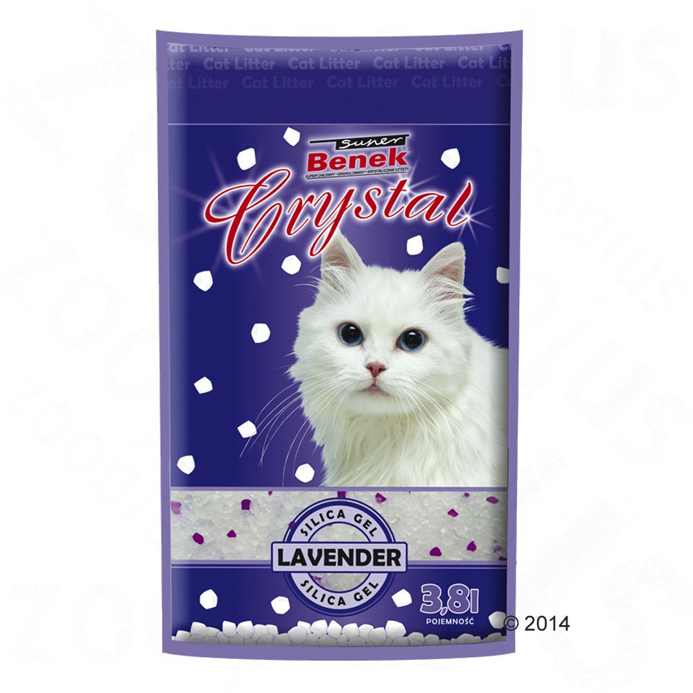 Super Benek Crystal Lavender Cat Litter - 11.4 litres