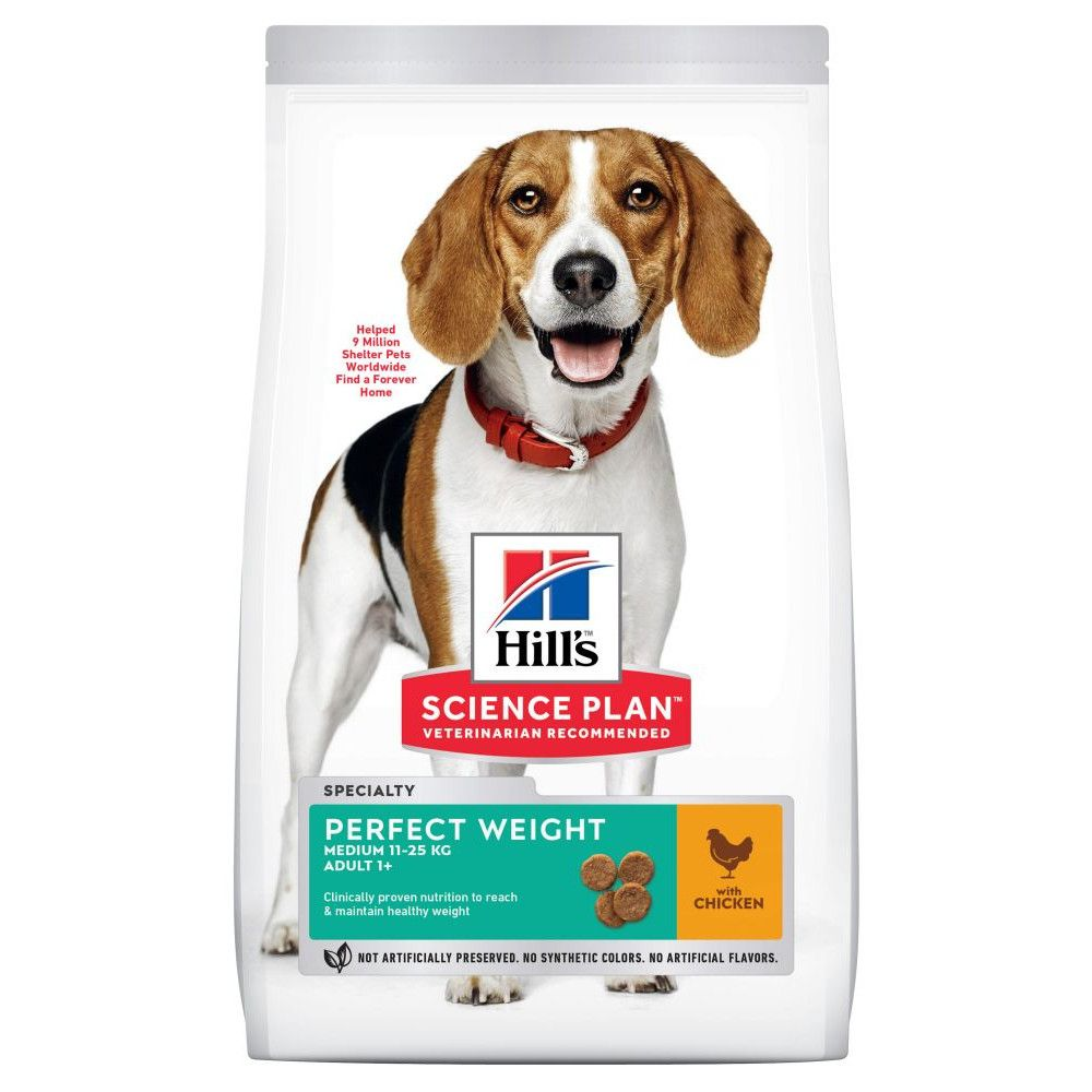 Chicken Medium Perfect Weight Adult Hill's Science Plan Dry Dog Food