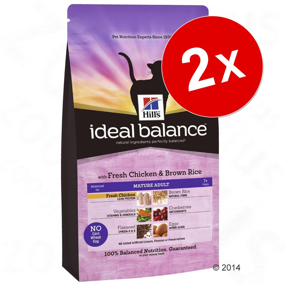 Lot Hill´s Feline Ideal Balance pour chat - Adult poulet, pommes de terre (2 x 2 kg)
