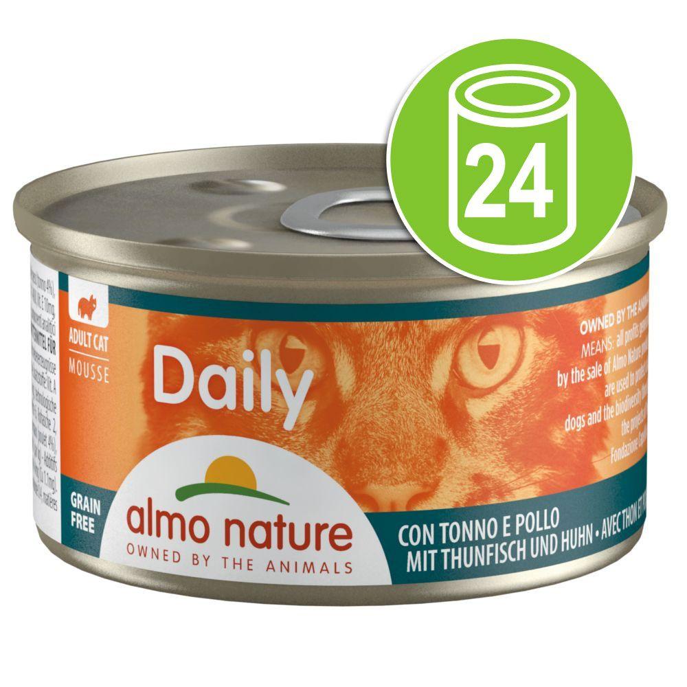 24x85g bouchées au bœuf Almo Nature Daily Menu - Nourriture pour Chat
