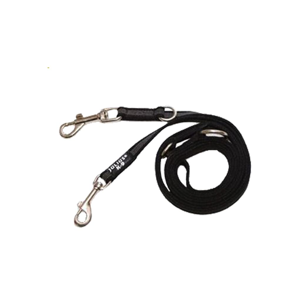 Julius-K9 Supergrip Double Adjustable Lead - 220cm x 20mm (L x W)