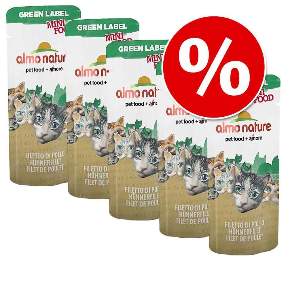 Pakiet Almo Nature Green Label Mini Food 25 x 3 g  Kurczak, 25 x 3 g