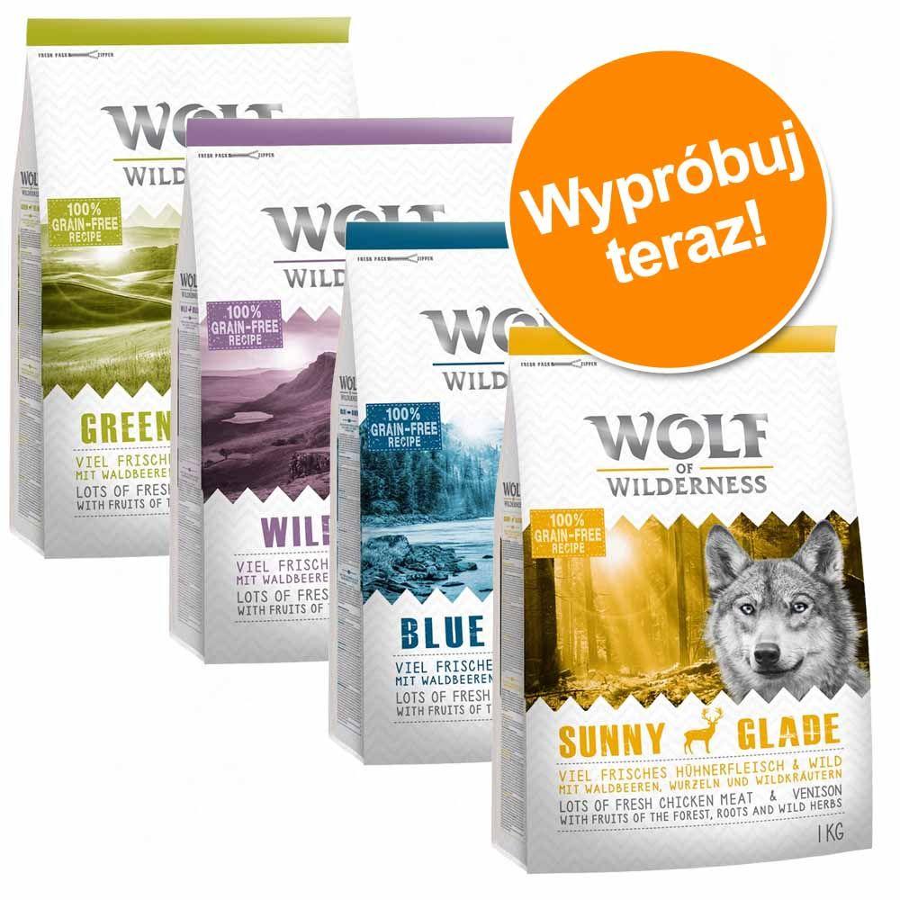 Mieszany pakiet Wolf of Wilderness Adult, 4 smaki - 4 x 1 kg