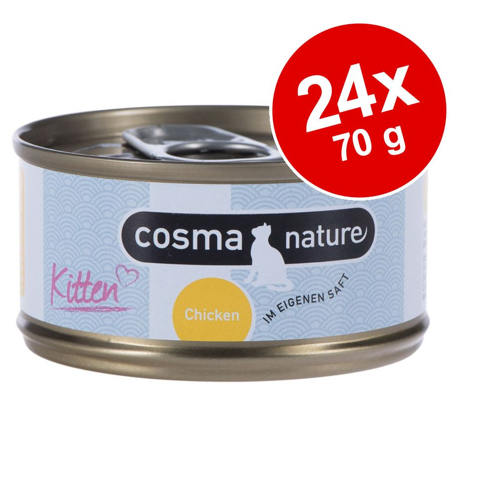 Ekonomipack: Cosma Nature Kitten 24 x 70 g - Kyckling
