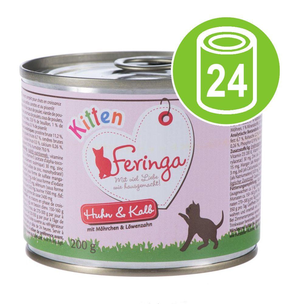 Ekonomipack: Feringa Kitten 24 x 200 g - Kalkon