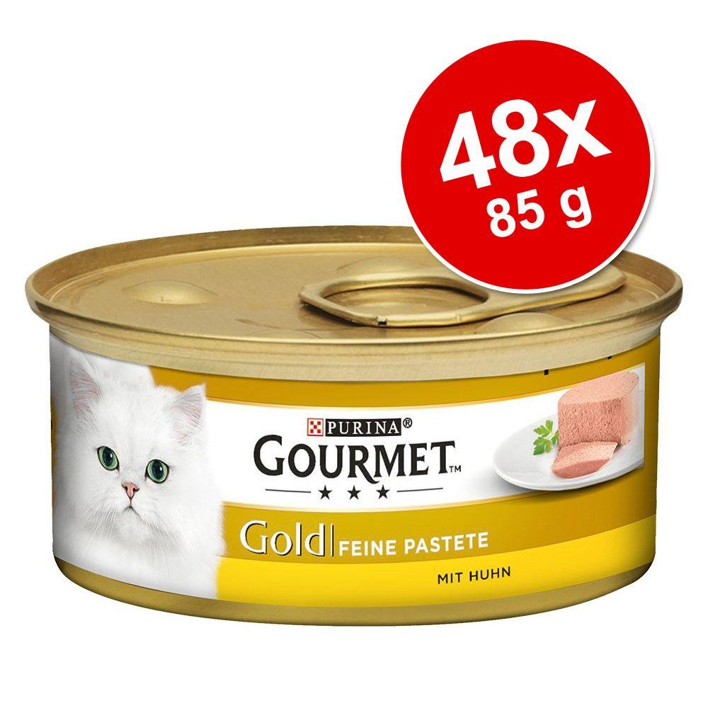 Sparpaket Gourmet Gold Feine Pastete 48 x 85 g - Mix 1 (Huhn, Rind, Thunfisch, Truthahn)