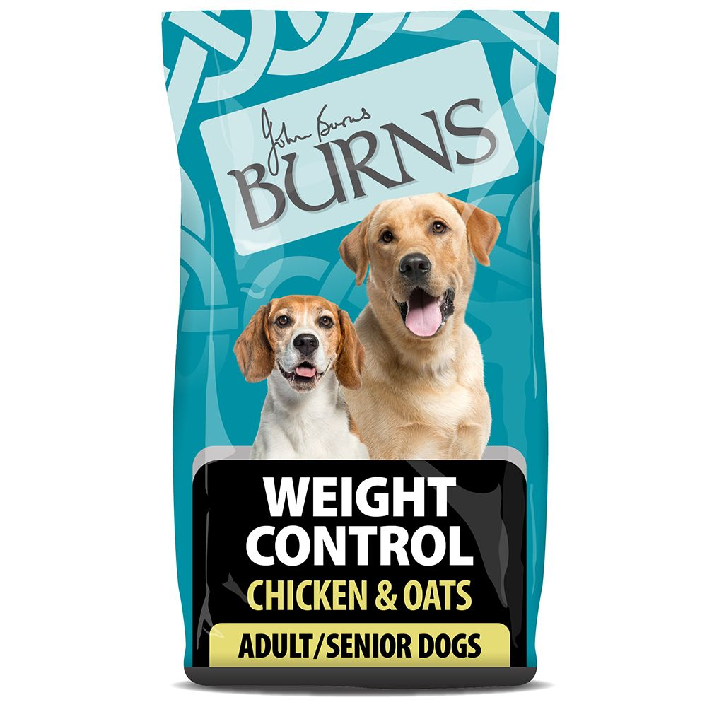 Burns Adult & Senior Weight Control+ - Chicken & Oats - Economy Pack: 2 x 12kg