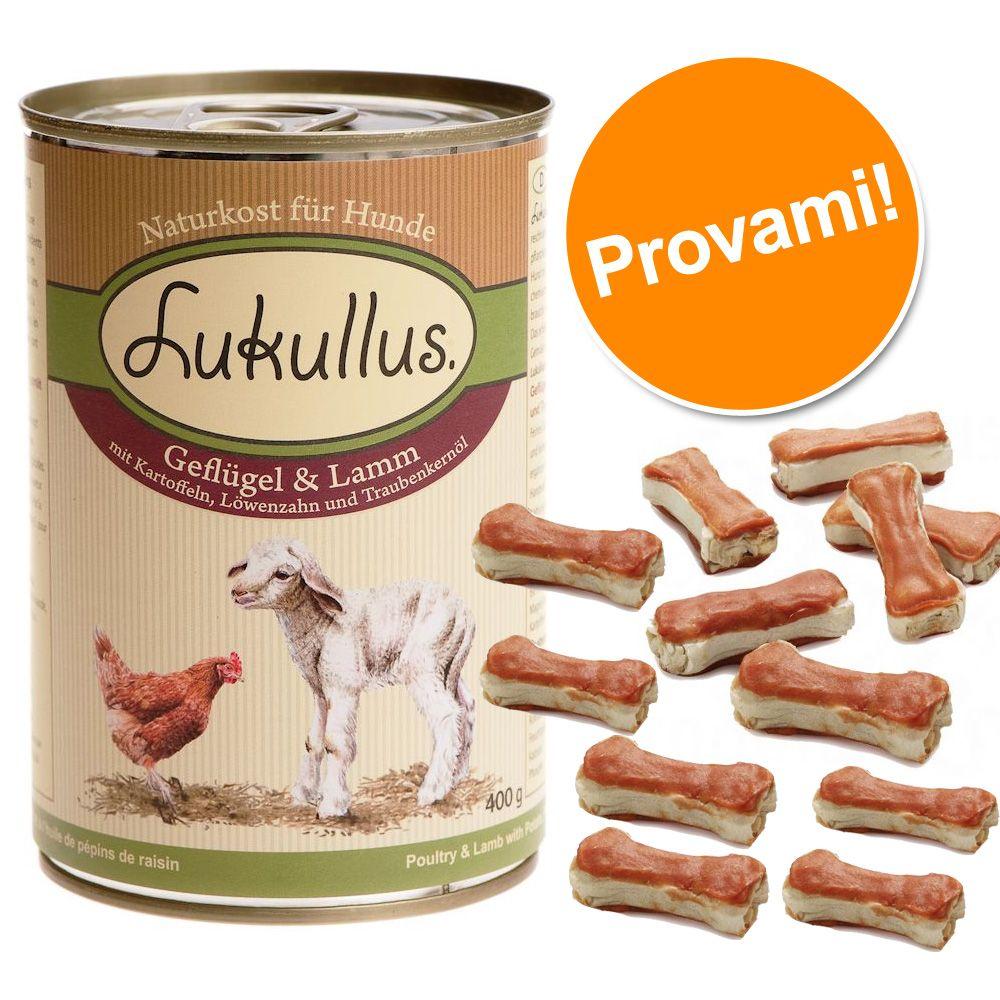 Image of Set prova Lukullus + 12 Ossi da 5 cm - 6 x 400 g Pollo & Agnello