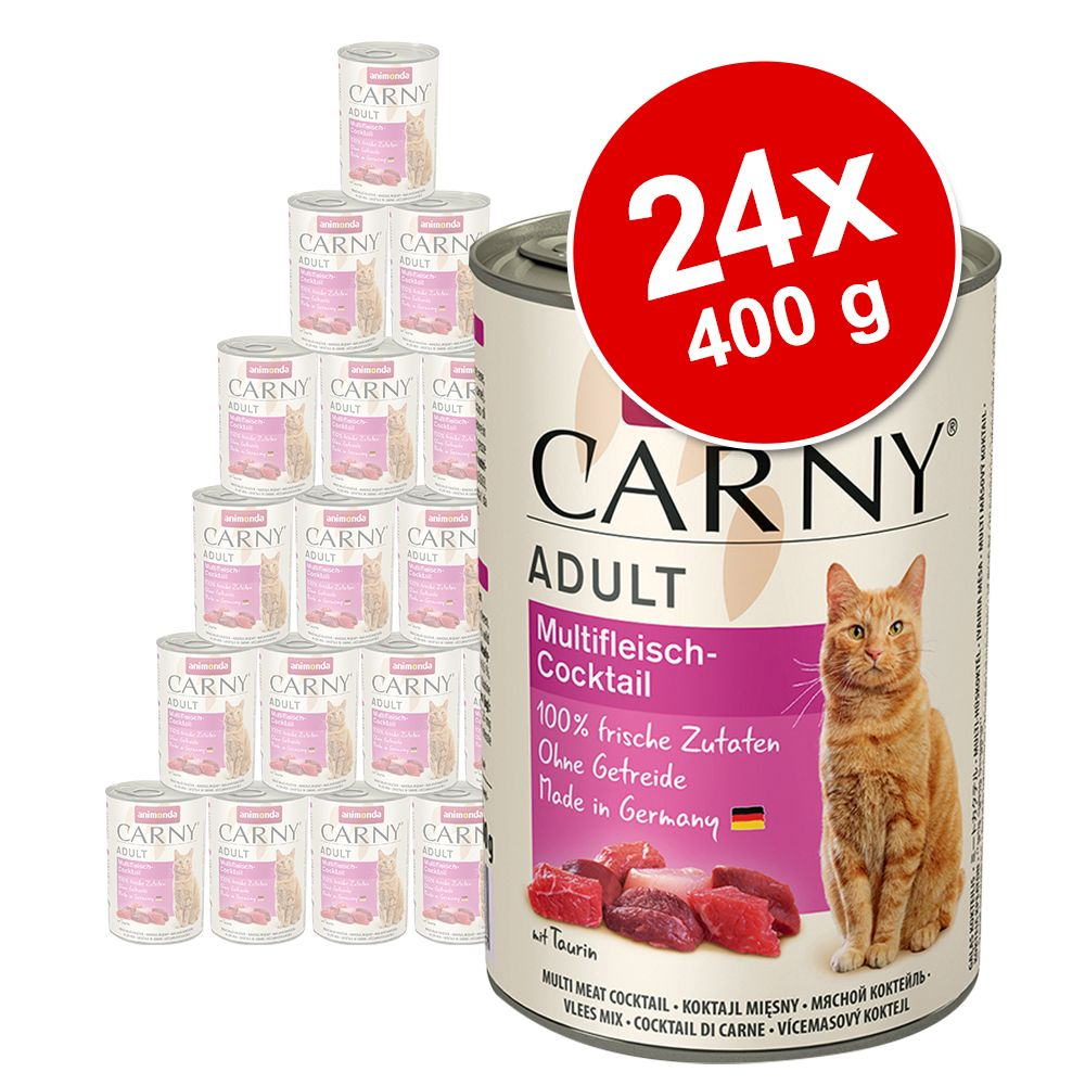 Ekonomipack: Animonda Carny Adult 24 x 400 g - Köttcocktail
