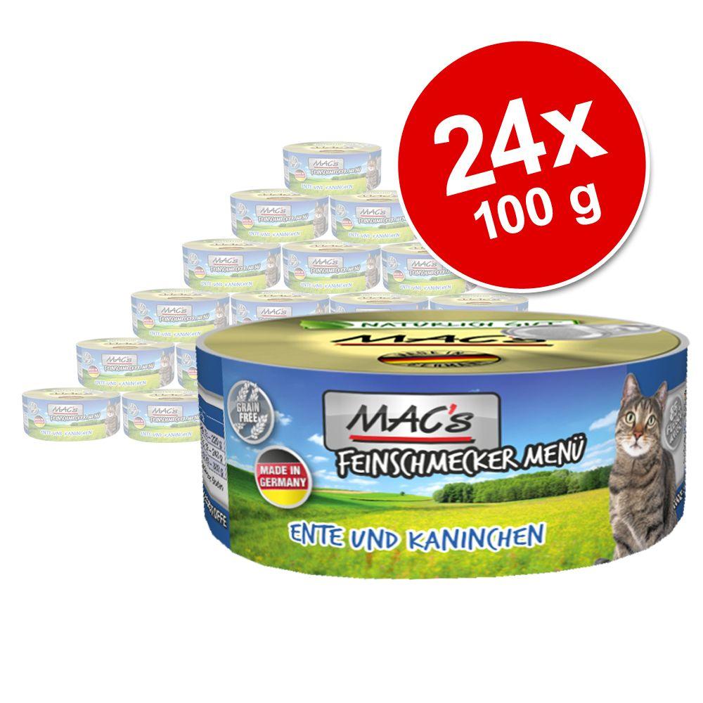 Ekonomipack: MAC's Cat Gourmet 24 x 100 g Kalv & fjäderfä
