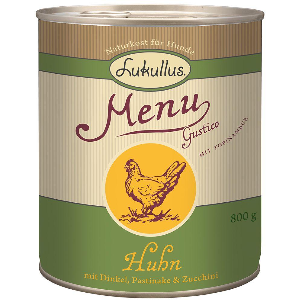 Lukullus MenuGustico Chicken with Spelt, Parsnip & Courgette - 6 x 400g