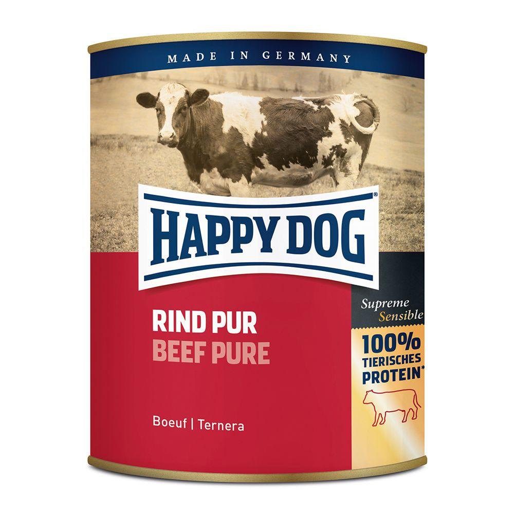 24 x 800g Pur Truthahn Happy Dog getreidefreies Hundefutter nass 4001967023305
