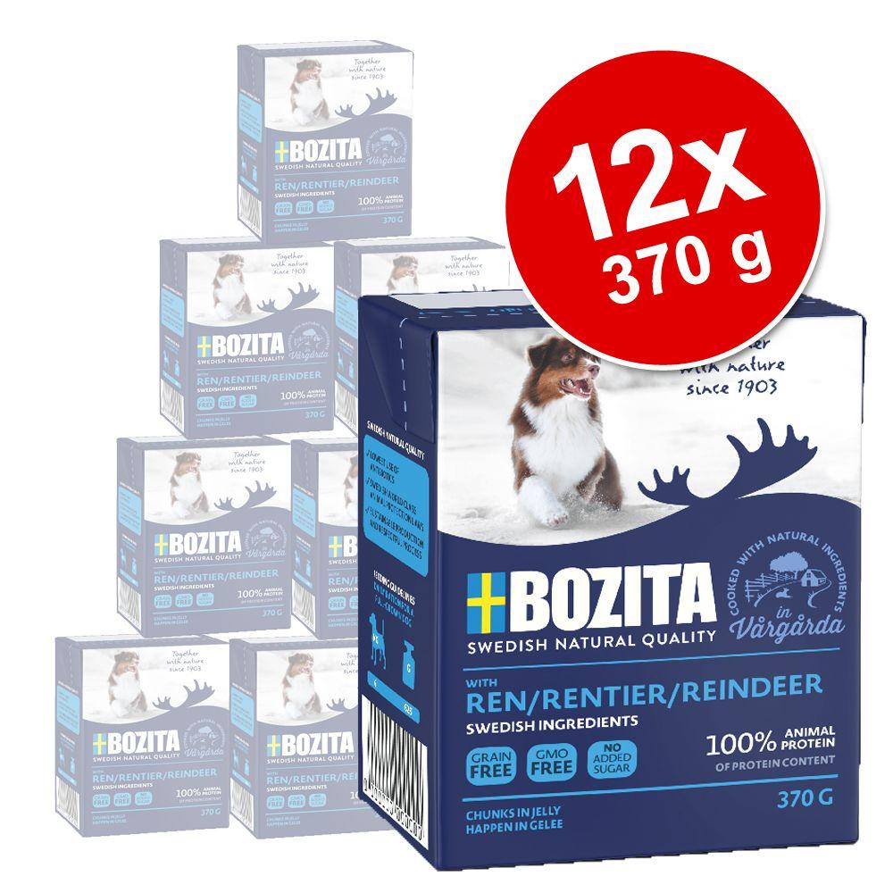 12x370g Bouchées en gelée élan Bozita - Nourriture pour chien