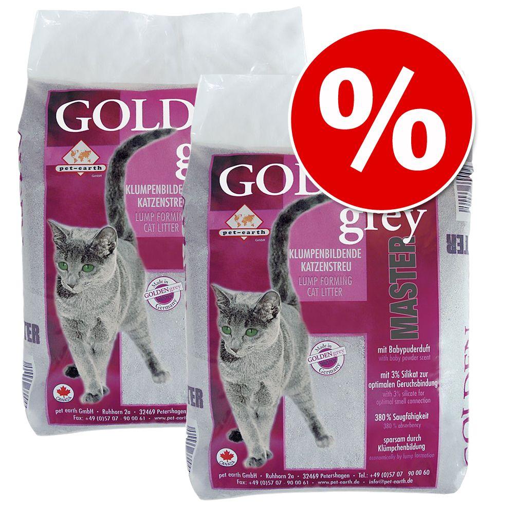 Sparpaket Golden Katzenstreu 2 x 14 kg - Golden Grey Master