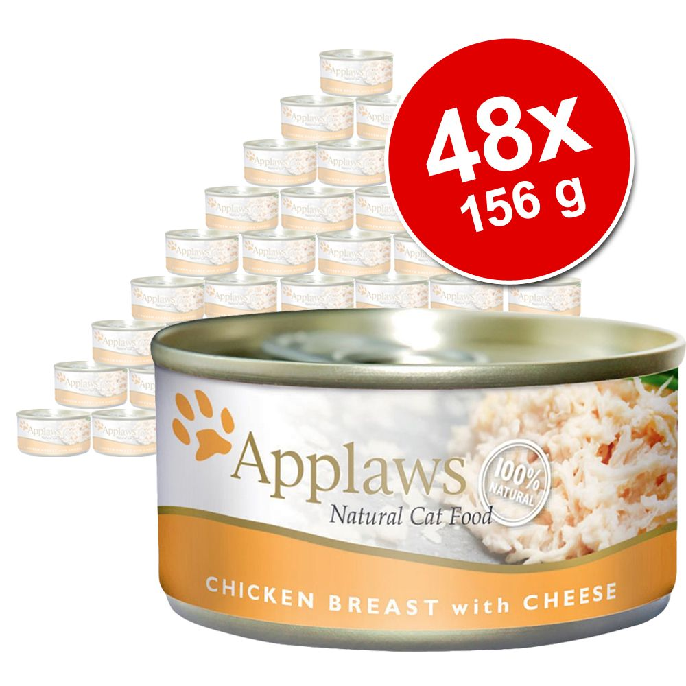 Image of 48 x 156 g Applaws Katzenfutter im Super-Sparpaket - Huhnmix