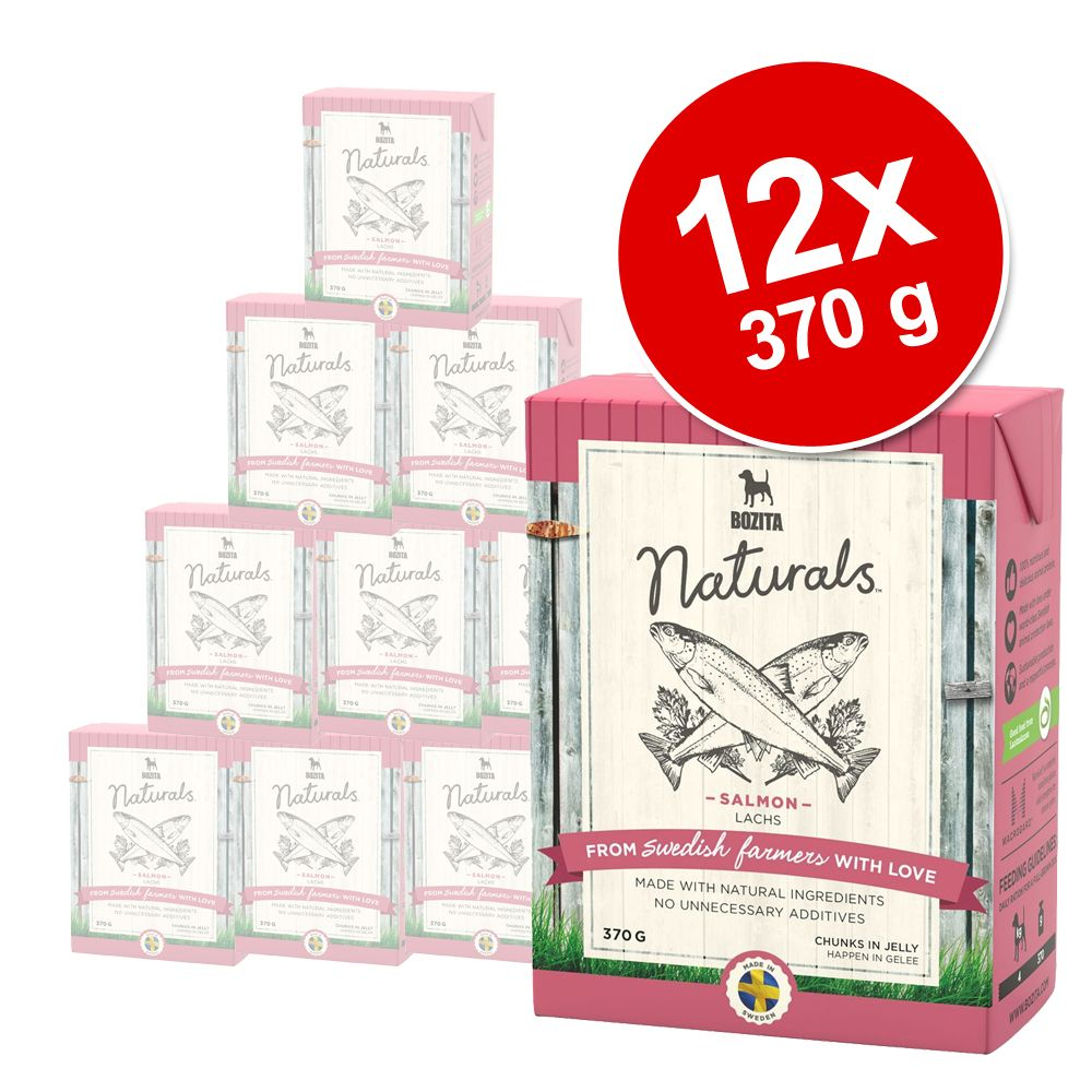 Pakiet Bozita Naturals w galarecie, 12 x 370 g - Łosoś