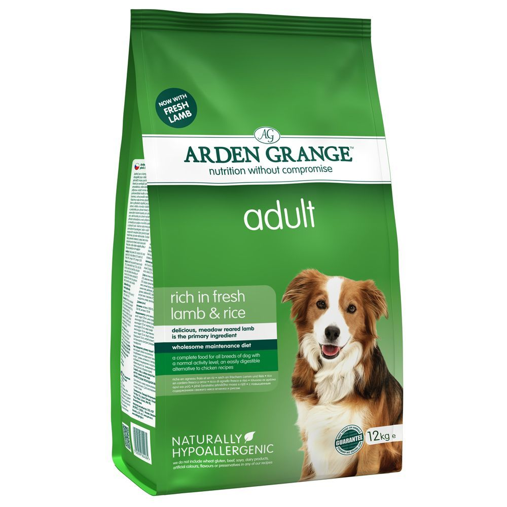 Large Bags Arden Grange Dry Dog Food + Rubber Ball with Throwing Handle Free