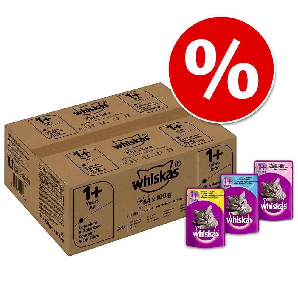 Ekonomipack: Whiskas 1+ portionspåsar 168 x 100 g – 1+ Fågelurval i sås