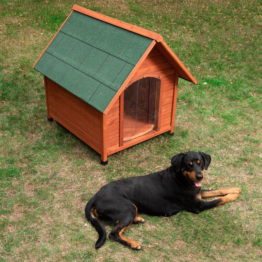 Hundehütte Spike Comfort - Größe M: B 78 x T 88 x H 81 cm