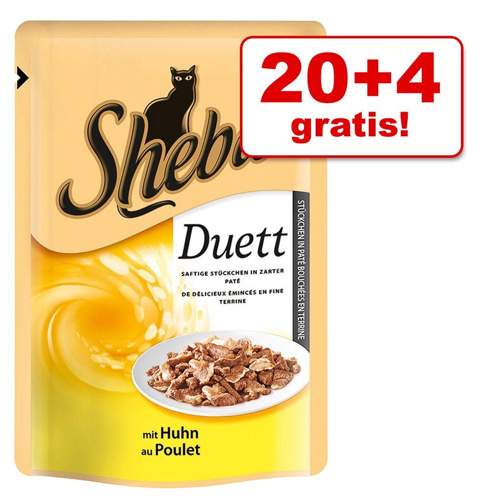 20 + 4 gratis! 24 x 85 g Sheba Frischebeutel - Zarte Streifen mit Thunfisch in Soße