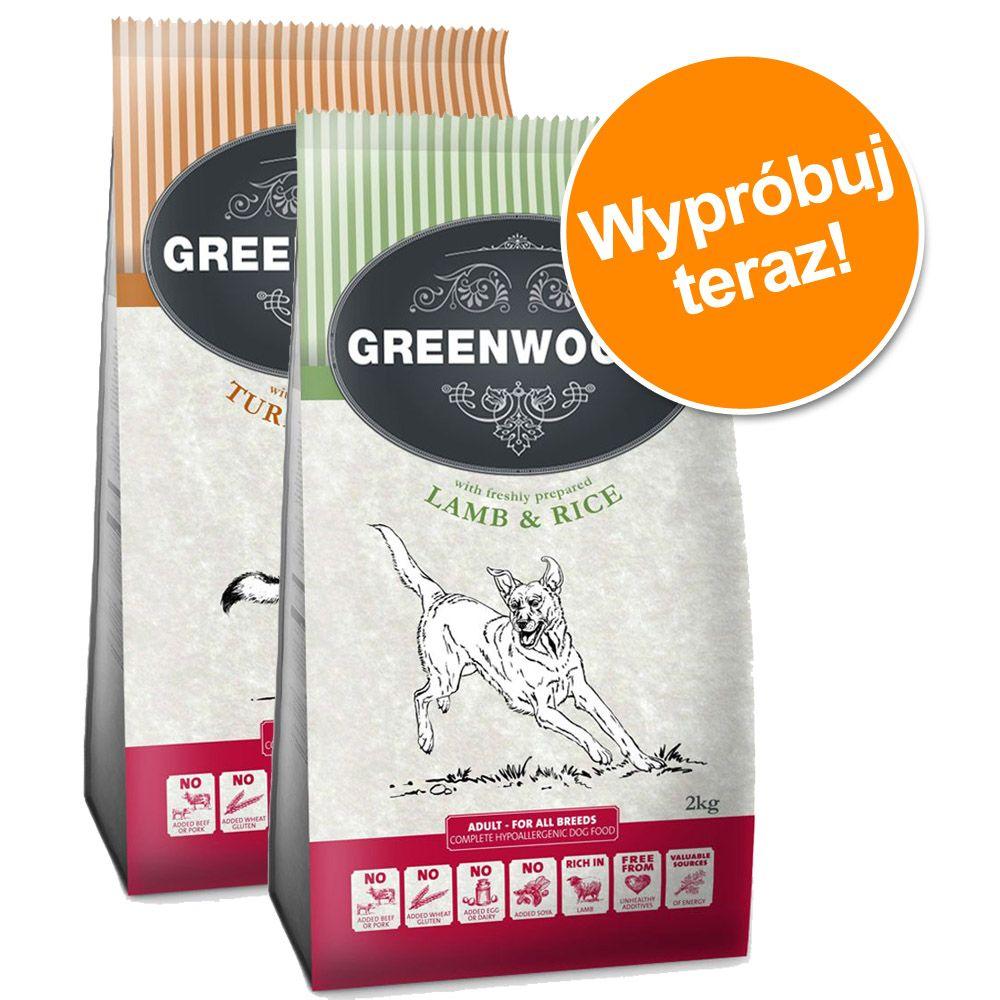 Pakiet mieszany Greenwoods Adult, 2 x 2 kg - Indyk i ryż + ryba i ryż