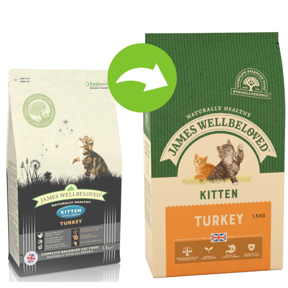 James Wellbeloved Kitten Turkey & Rice - 1,5 kg