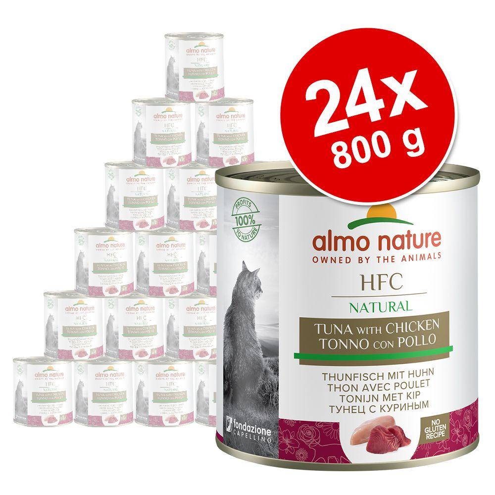 Ekonomipack: Almo Nature HFC 24 x 280 g - Kyckling & lax