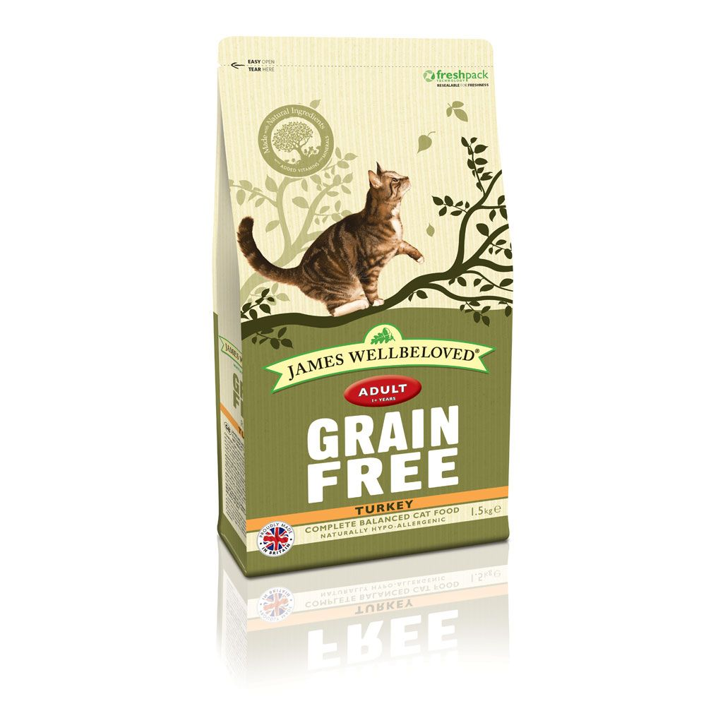James Wellbeloved Adult Cat Grain Free - Turkey - 1.5kg