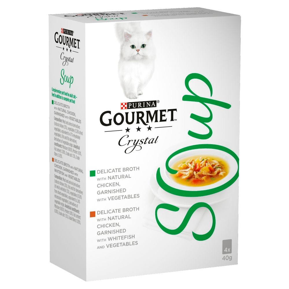 4x40g Chicken & Vegetables Gourmet Soup Wet Cat Food