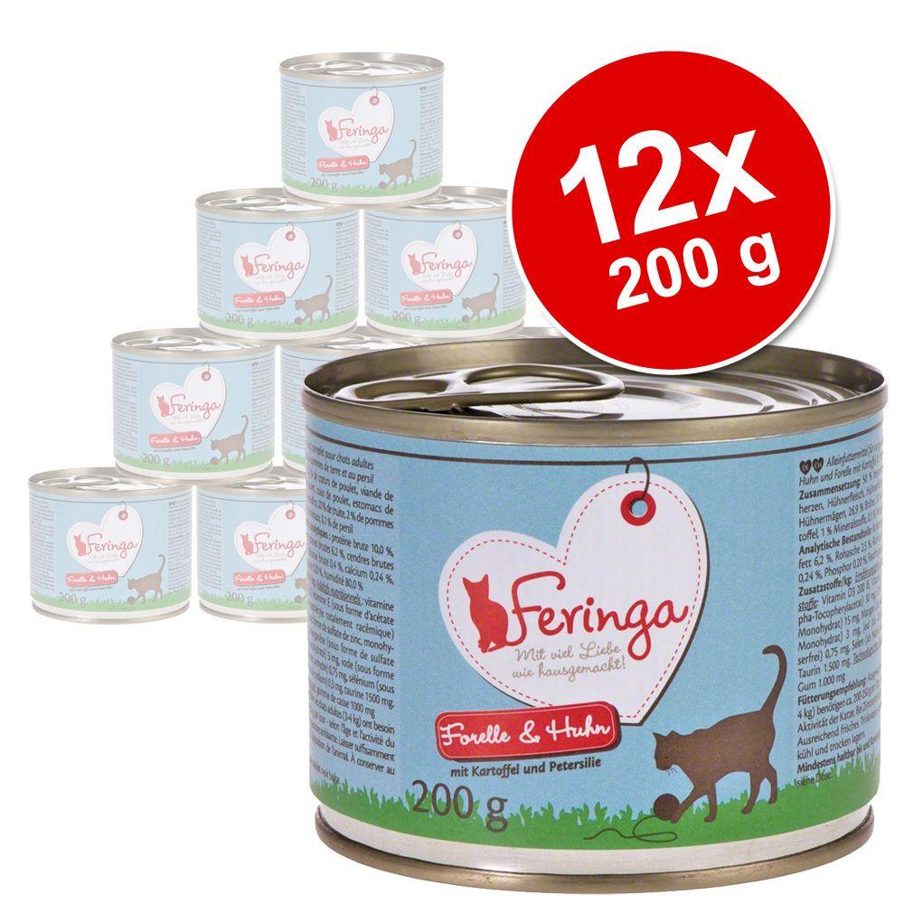 12x200g Menus Duo truite, poulet, pommes de terre, persil Feringa - Nourriture pour Chat