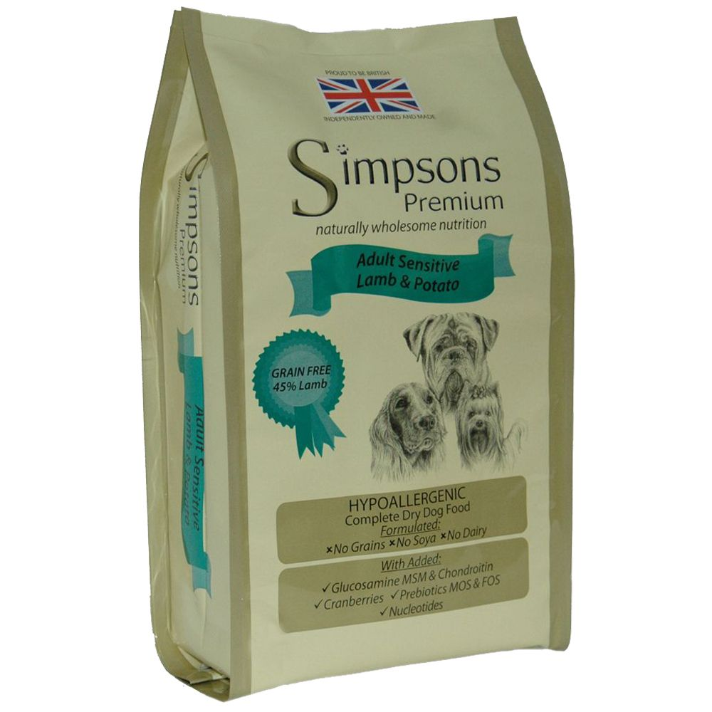 Simpsons Premium Adult Sensitive Lamb & Potato Dry Dog Food