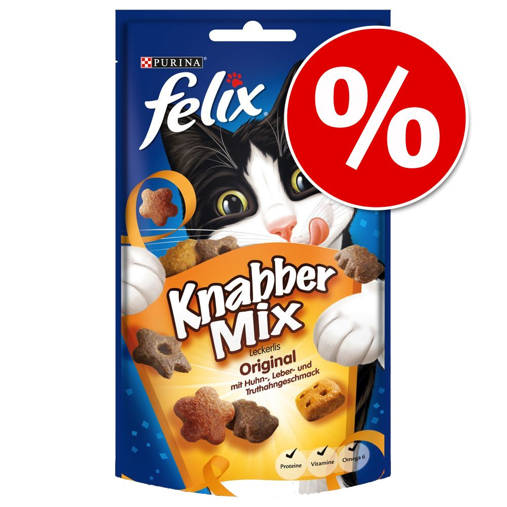 3 x 60 g Felix KnabberMix zum Sonderpreis! - Wild