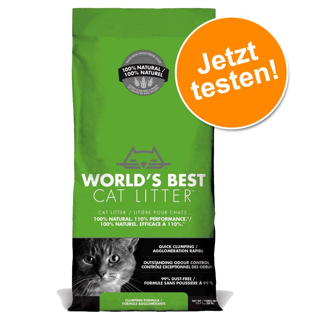 Probiergröße: 6,35 kg World's Best Cat Litter Katzenstreu - World's Best Cat Litter
