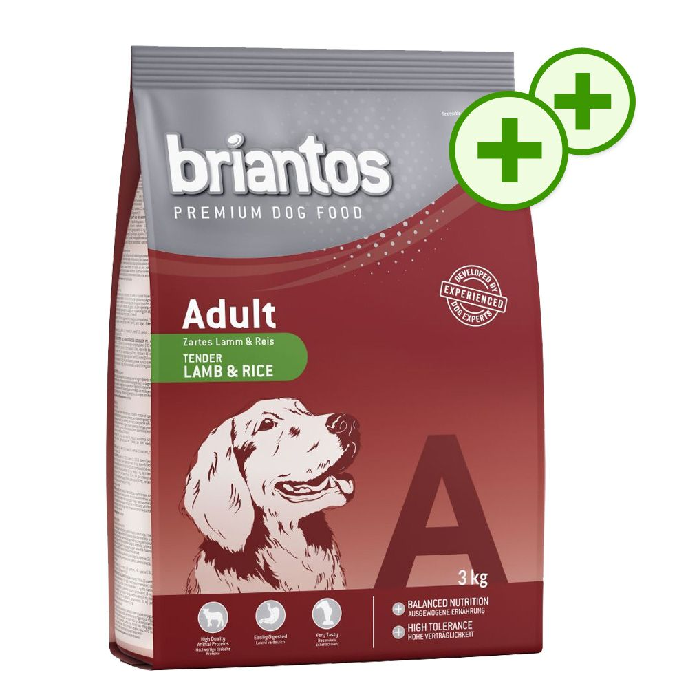 Podwójne punkty bonusowe: 3 kg Briantos - Adult, kurczak & ryż