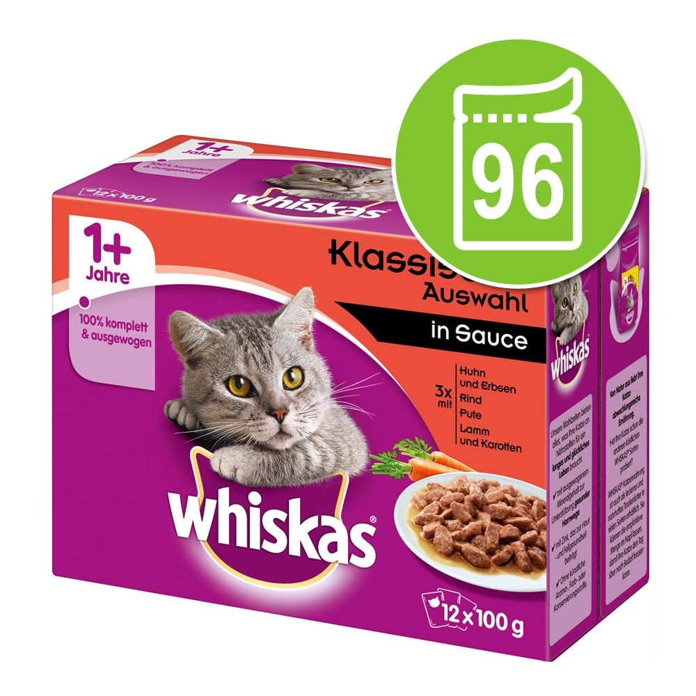 Ekonomipack: 96 x 85 / 100 g Whiskas - Senior 7+ Klassiskt urval i gelé 100 g