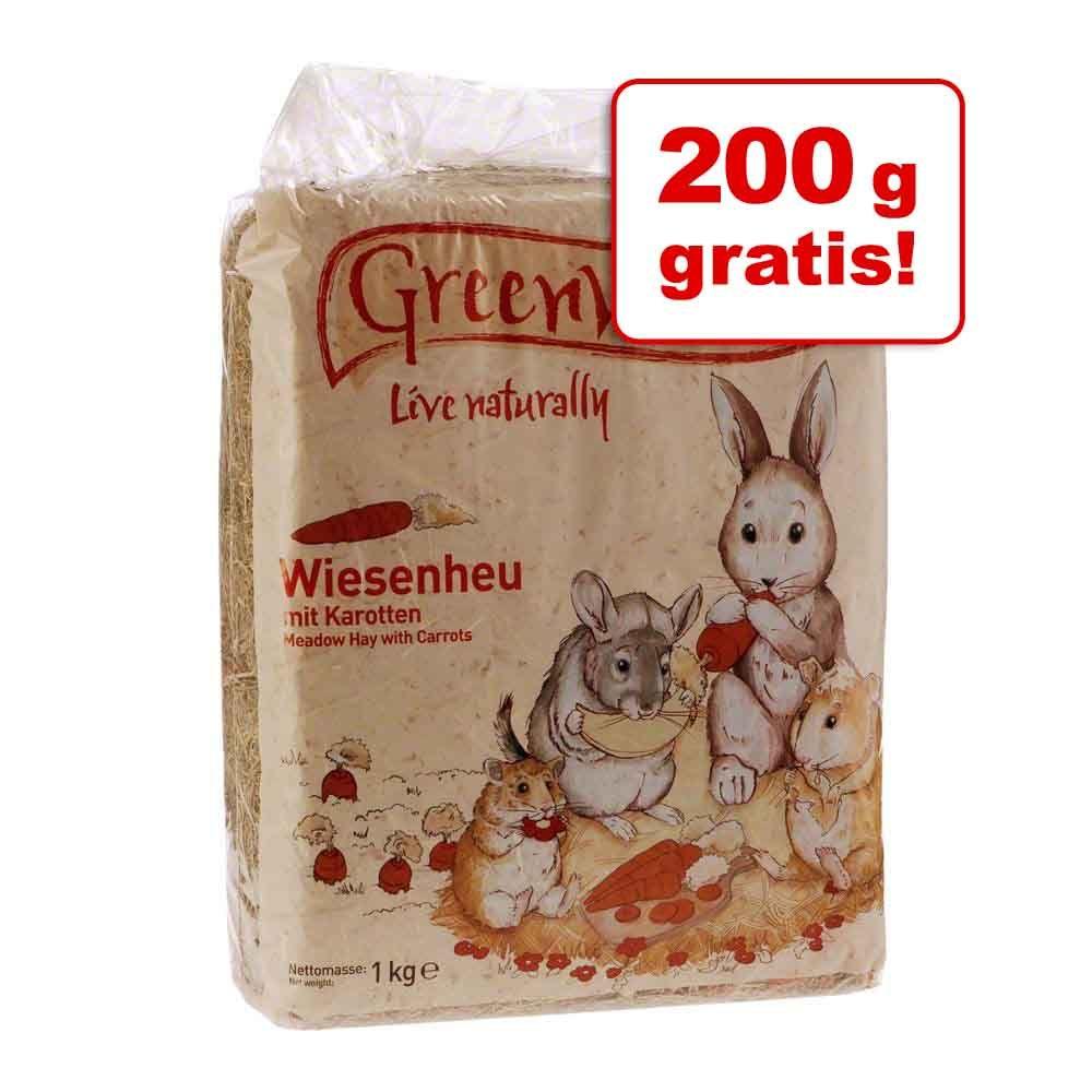 1,8 kg + 200 g gratis! Greenwoods Siano łąkowe, 2 x 1 kg - Dzikie jabłko