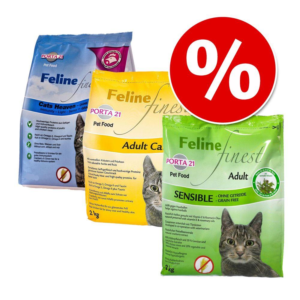 Blandat provpack: Porta 21 Finest kattfoder - Adult Cat, Cats Heaven & Sensible