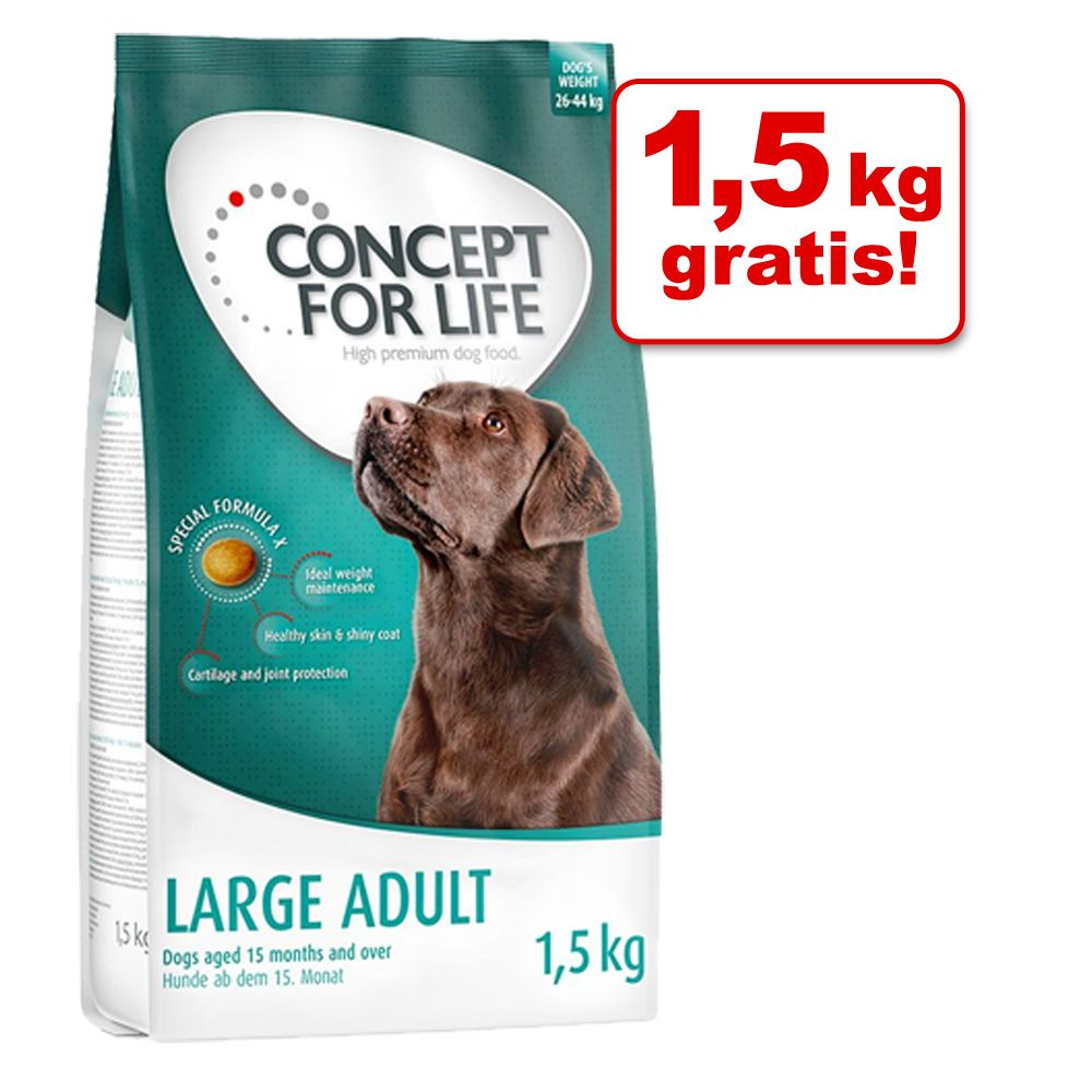 4,5 + 1,5 kg gratis! Concept for Life karma sucha dla psa, 6 kg - Medium Light