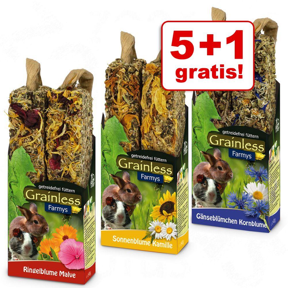 5 + 1 gratis! Mieszany pakiet Kolba JR Farm Farmy's Grainless, 3 x 2 szt. - 3 x 2 sztuki