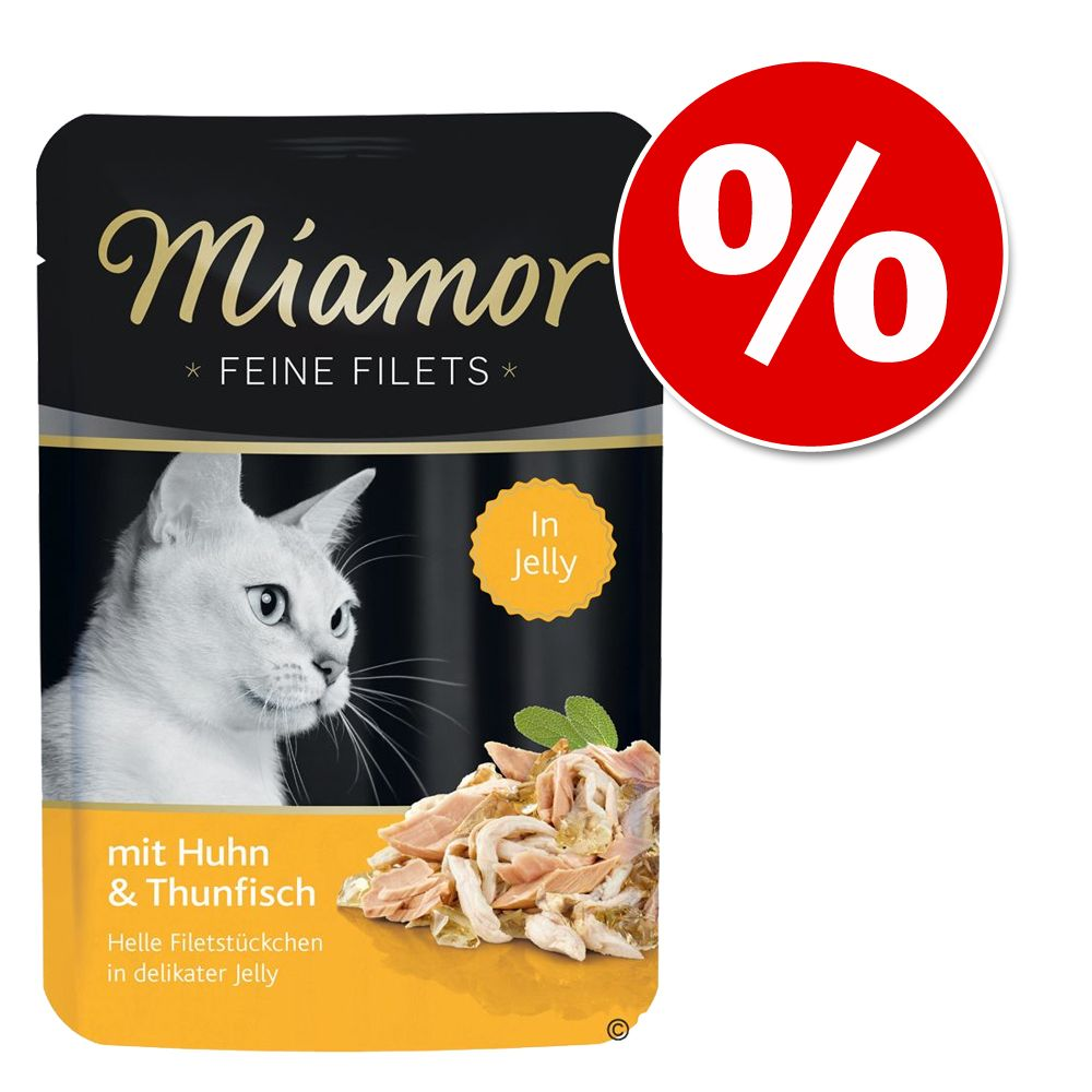 Miamor Feine Filets w saszetkach, 12 x 100 g w super cenie! - Kurczak z pomidorami