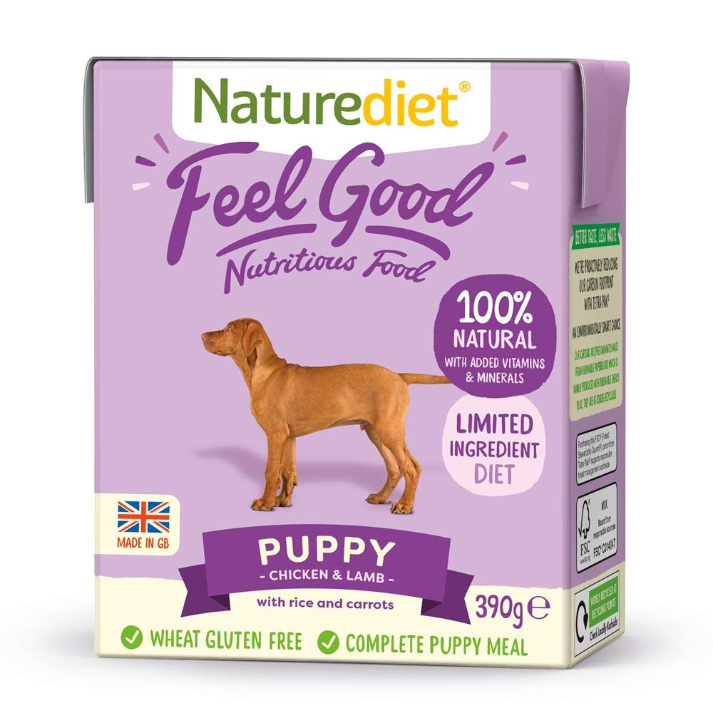 36x390 Chicken & Lamb Naturediet Feel Good Puppy Wet Food