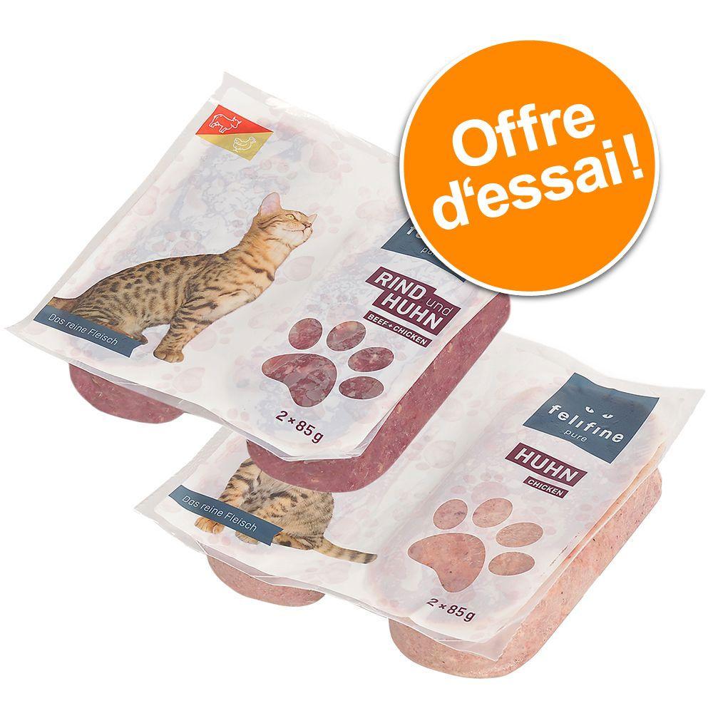 Lot mixte Felifine Pure 16 x 2 x 85 g pour chat - pack basic (2 variétés)