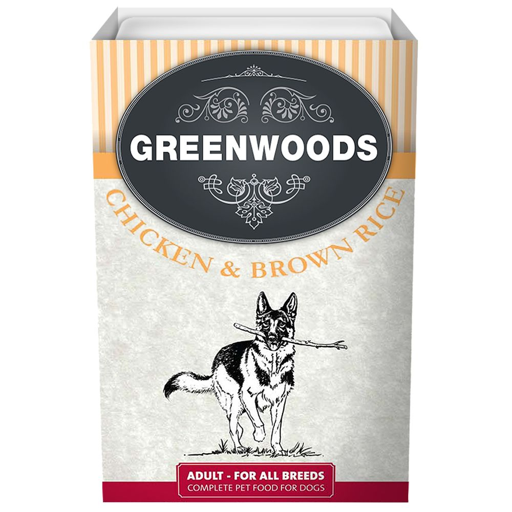 Greenwoods Adult – Chicken & Brown Rice - 6 x 395g