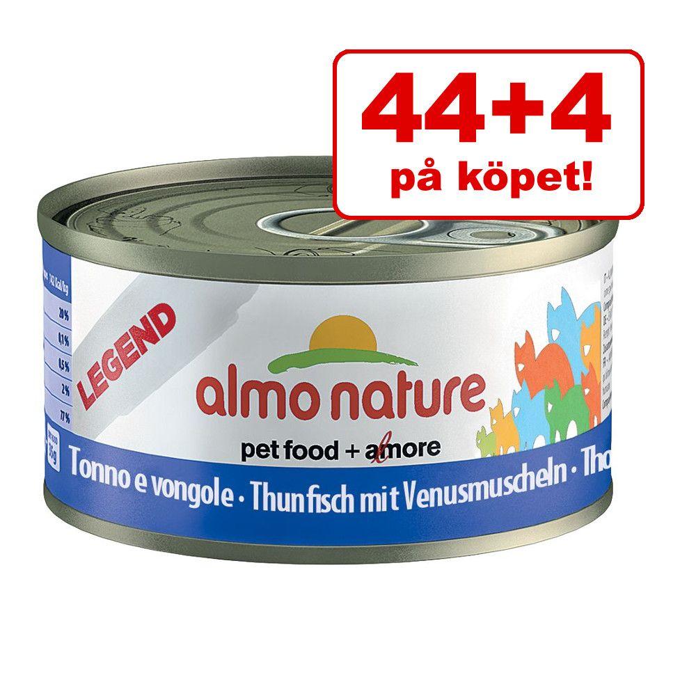 44 + 4 på köpet! 48 x 70 g Almo Nature - Tonfisk & venusmusslor