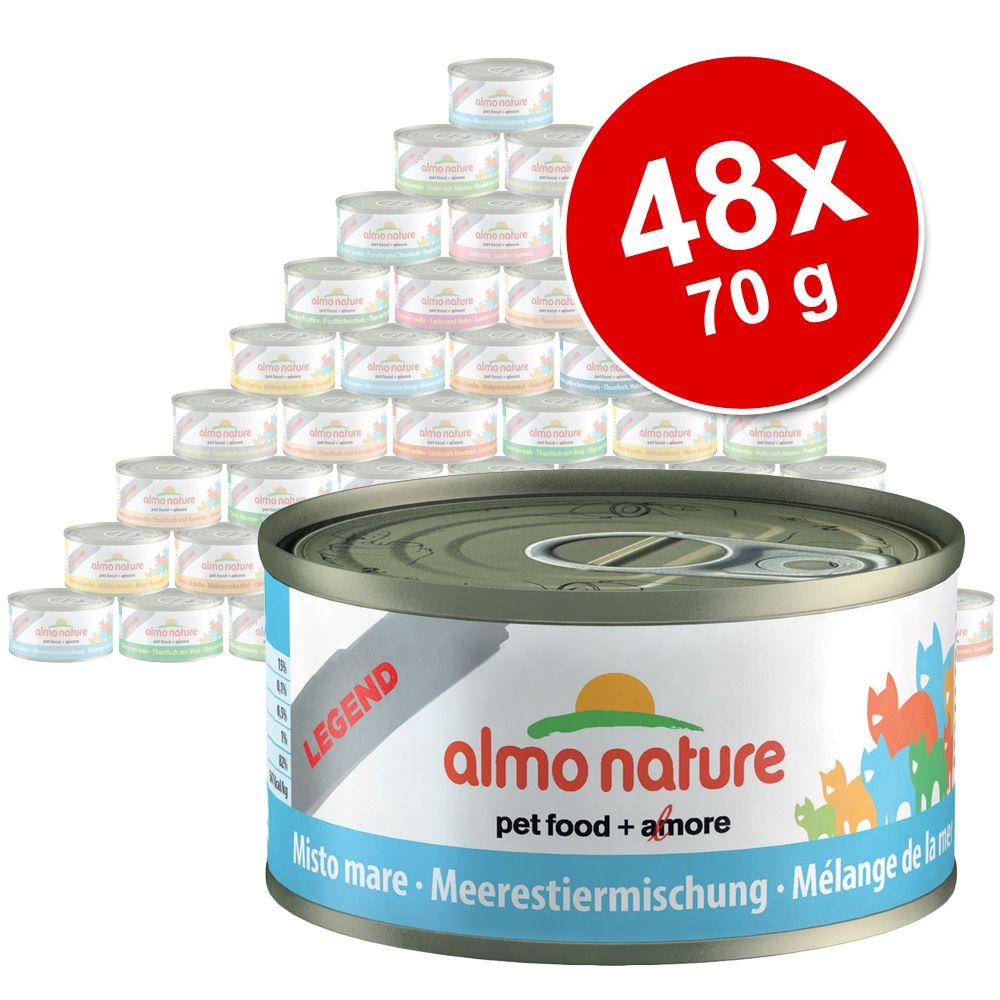 Ekonomipack: 48 x 70 g Almo Nature Legend – Blandpack I